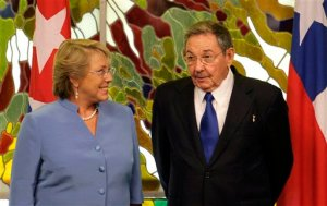 Raul Castro, Michelle Bachelet