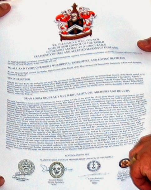 GRAN LOGIA MULTI-RITUALISTA DEL ARCHIPIÉLAGO DE CUBA 62822-carta-patente