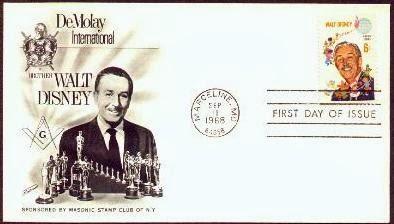 Walt Disney Demolay International FDC