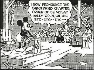 Mickey Mouse como un DeMolay