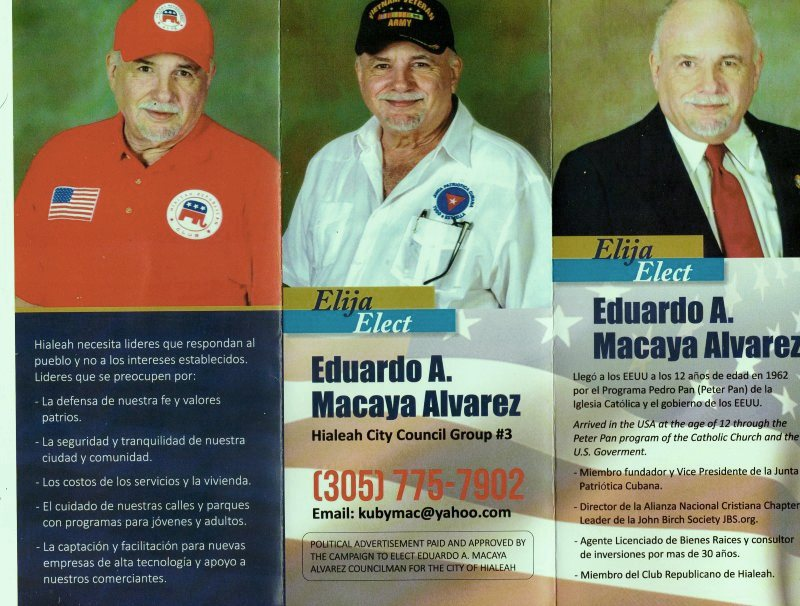 EDUARDO MACAYA FOR HIALEAH COUNCIL