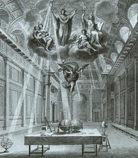 Frontispicio para la edicion de las Constituciones de 1738.