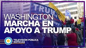 Marcha en apoyo a Trump en Washington - YouTube