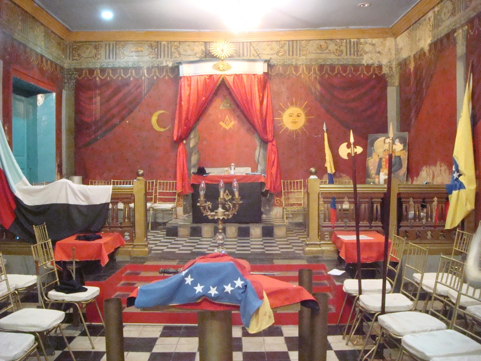Yorkino Venezolano : Templo de la Logia Protectora de las Virtudes N° 1